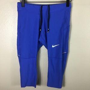 EUC- Nike Dri Fit Royal Blue Capri Pants